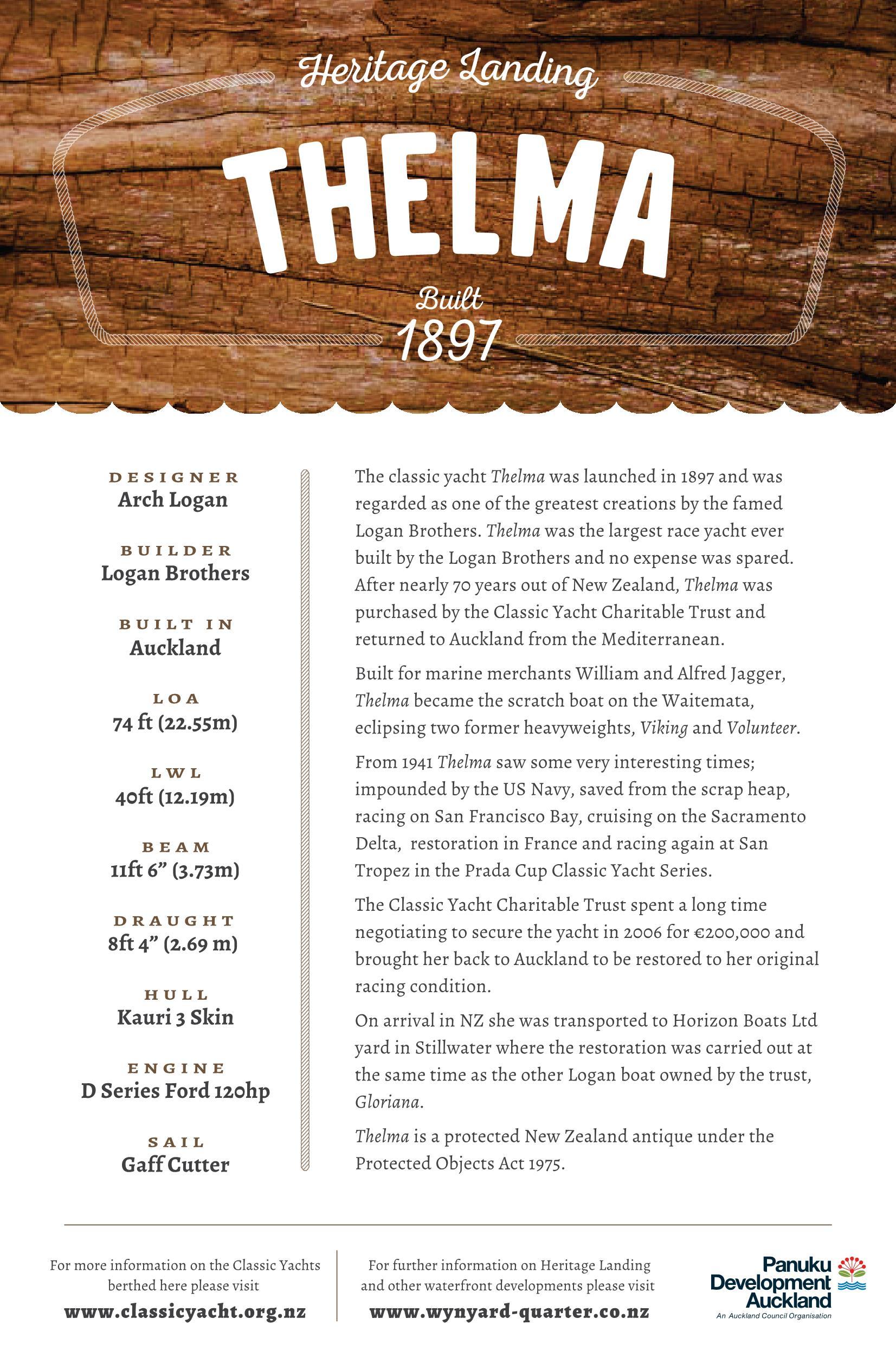 Thelma Gaff Cutter Details